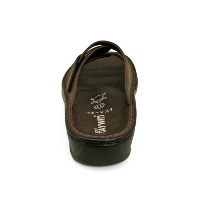 รองเท้าแตะ SKA-28 หนังนูบักออยล์ตาล-นูบักแทน