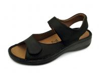 รองเท้าแตะ SKA-29 หนังนูบักออยล์ดำ