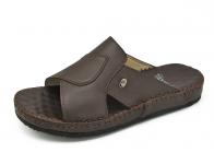 รองเท้าแตะ SKC-03 หนังนิ่มตาลแก่