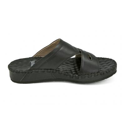รองเท้าแตะ SKC-04 หนังนิ่มดำ