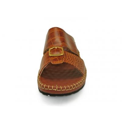 รองเท้าแตะ SKC-05 หนังปั๊มลายจระเข้ตาล