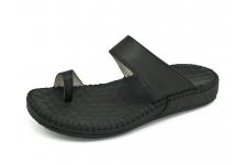 รองเท้าแตะ SKC-07 หนังนิ่มดำ