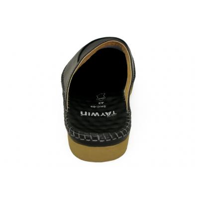 รองเท้าแตะ SKC-09 หนังนิ่มดำด้าน
