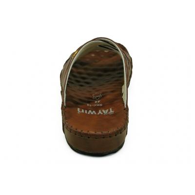 รองเท้าแตะ SKC-12 หนังยับลายตาล
