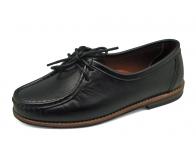ลด 50% รองเท้าคัทชูส้นเตี้ย SY-02 หนังนิ่มดำ