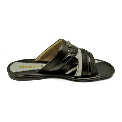 ลด 50% รองเท้าแตะ SKF-14 หนังนิ่มดำ-PUแก้วดำ-นิ่มเทาอ่อน