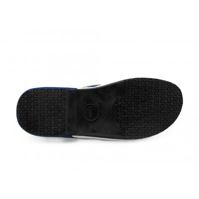 รองเท้าแตะ SKF-17 หนังนิ่มขาว-กลับน้ำเงินสด-ผ้าตาข่ายกรมท่า