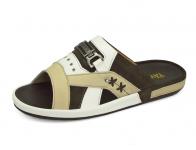 ลด 50% รองเท้าแตะ SKF-20 หนังนิ่มครีมอ่อน-นิ่มขาว-กลับตาล