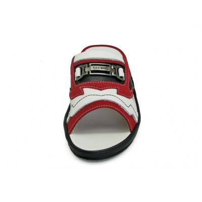 รองเท้าแตะ SKF-27 หนังกลับแดง-ปั่นนิ่มขาว-ปั่นนิ่มดำ