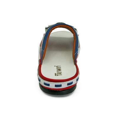 รองเท้าแตะ SKF-31 หนังไมโครไฟเบอร์นิ่มแดง-ปั่นนิ่มขาว-นิ่มน้ำเงิน