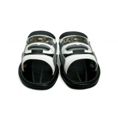 รองเท้าแตะ SKF-35 ปั่นนิ่มขาว-นิ่มเทาอ่อน-ดำ-ตาข่ายเทา