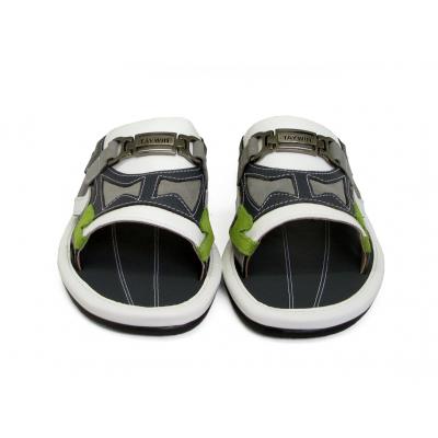 รองเท้าแตะ SKF-36 หนังนิ่มขาว-นิ่มกรมท่า-กลับเทาอ่อน-กลับเขียวอ่อน