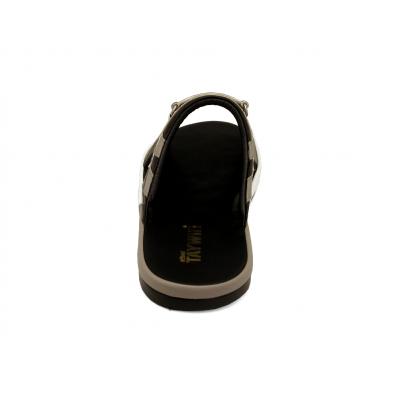 รองเท้าแตะ SKF-38 หนังไมโครไฟเบอร์นิ่มเทา-นิ่มดำ-ปั่นนิ่มดำ