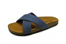 Men Sandals SKT-63 Blue Sheep Chamois Leather