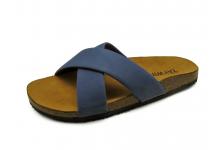 Men Sandals SKT-63 Blue Sheep Chamois Leather