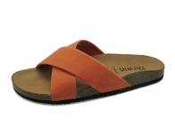 ลด 50% รองเท้าแตะ SKT-63 หนังแกะชามัวส้ม