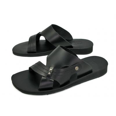 รองเท้าแตะ SKT-68 หนังนูบักออยล์ดำ