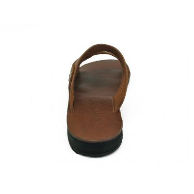 รองเท้าแตะ SKT-68 หนังนูบักออยล์ตาลอ่อน