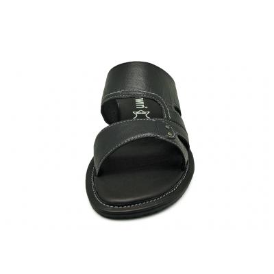 รองเท้าแตะ SKT-69 หนังแพะปั่นนิ่มดำ