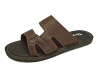 ลด 50% รองเท้าแตะ SKT-69 หนังนิ่มตาลแก่ลาย