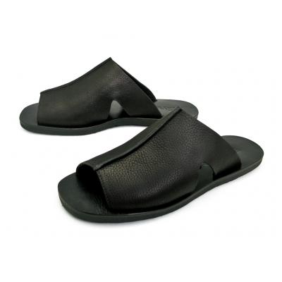 รองเท้าแตะ SKT-72 หนังชามัวดำ