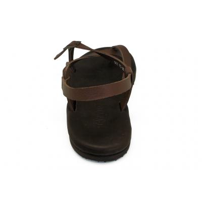 รองเท้าแตะ SKT-73 หนังนิ่มตาลแก่