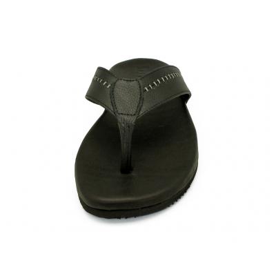 รองเท้าแตะ SKT-74 หนังปั่นนิ่มดำ