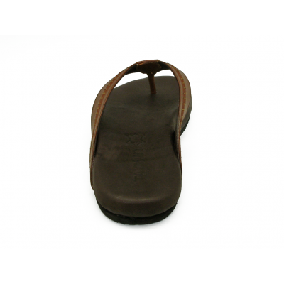 รองเท้าแตะ SKT-74 หนังนิ่มตาลแดง