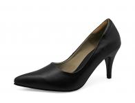 รองเท้าคัทชูส้นสูง SM-14 หนังนิ่มดำ