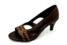 Women Courts Middle Heel SM-17 Dark Brown Nappa-Tan Sheep Leather