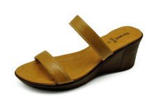 Women Sandals SM-90 Khaki Leather