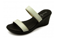 Women Sandals SM-90 White Antique Leather