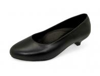 รองเท้าคัทชู SV-02 หนังนิ่มดำ