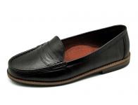 รองเท้าคัทชูส้นเตี้ย SY-01 หนังนิ่มดำ