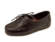 ลด 50% รองเท้าคัทชูส้นเตี้ย SY-02 หนังนิ่มตาลแก่