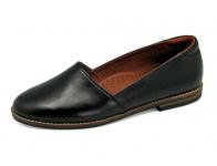 รองเท้าคัทชูส้นเตี้ย SY-03 หนังนิ่มดำ