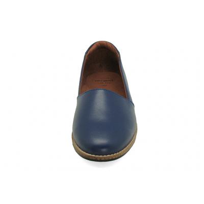 รองเท้าคัทชูส้นเตี้ย SY-03 หนังนิ่มน้ำเงิน