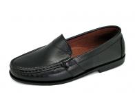รองเท้าคัทชูส้นเตี้ย SY-04 หนังนิ่มดำ
