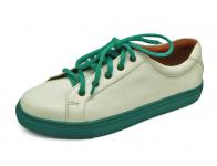 รองเท้าคัทชูส้นเตี้ย SY-05 หนังนิ่มขาว