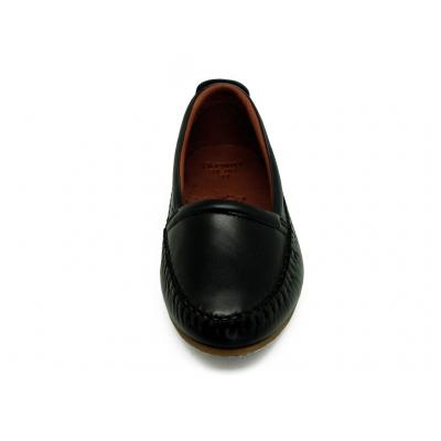 รองเท้าคัทชูส้นเตี้ย SY-06 หนังนิ่มดำ