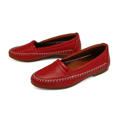 รองเท้าคัทชูส้นเตี้ย SY-06 หนังนิ่มแดง