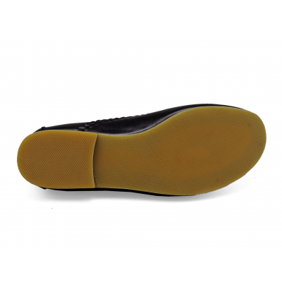 รองเท้าคัทชูส้นเตี้ย SY-07 หนังนิ่มดำ
